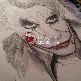 Zeichnung Joker aus The Badman Heath Ledger